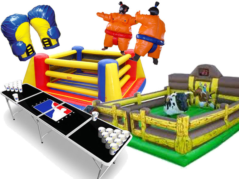Mechanical Bull Sumo Suits beer pong box n bounce